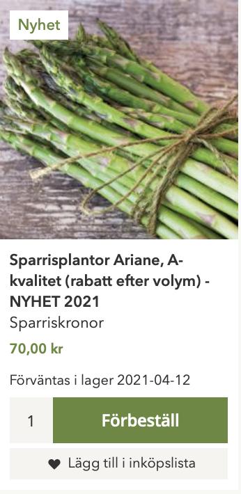 Förväntas i lager ÅÅÅÅ-MM-DD